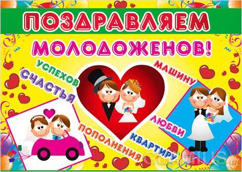 На свадьбу поздравления плакаты